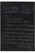 35. Create jobs! How? Value our assets