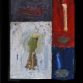 16 Untitled 13 charm 18x17 oil on sectioned panels 1996