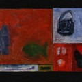 21 Untitled 18 lock 16x20 oil on sectioned sectioned panels 1996