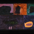 25 Untitled 21 boulder 17x22 oil on sectioned panels 1996