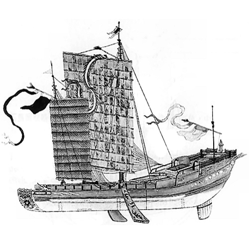 Illustration of Chinese Junk