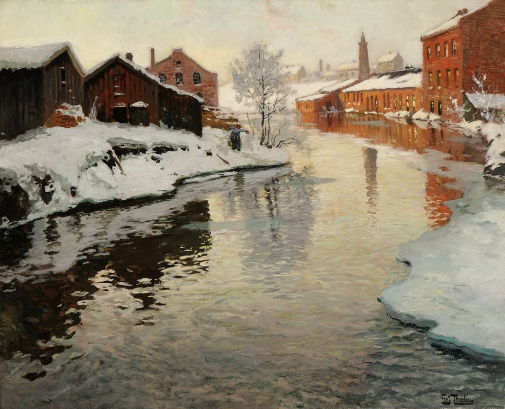 Frits Thaulow-the old factory- 1884