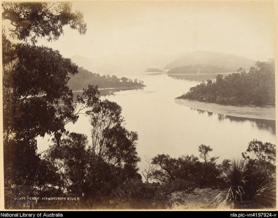 1880 Peats Ferry, Hawkesbury Rivers by Chalrles Bayliss