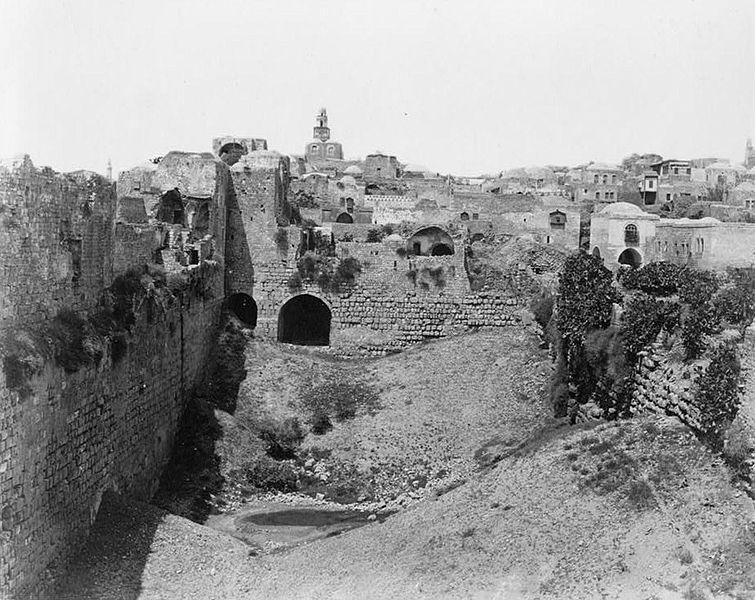 Félix Bonfils 1831-1885 Birket, Israel in late 1800's.